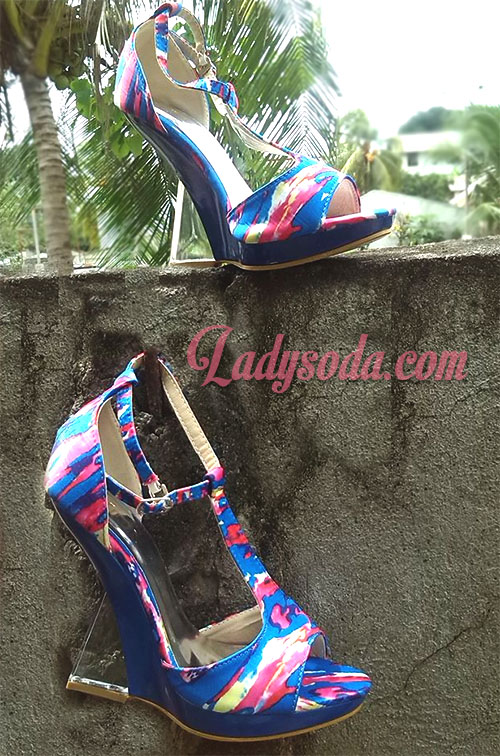 colorful wedge
