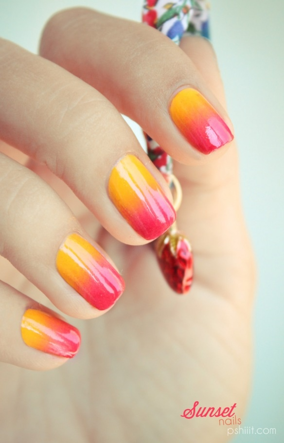 Summer nails_sunset