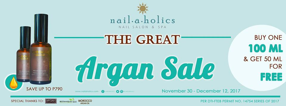 argan oil sale nailaholics