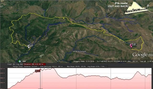 21k mapawa trail run