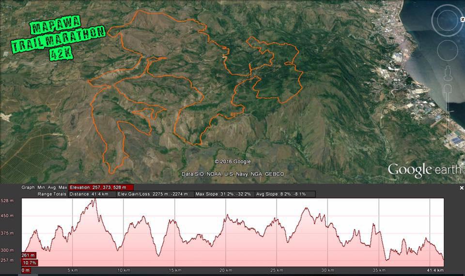 mapawa elevation profile 2274m
